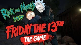 RICK AND MORTY PLAY FRIDAY THE 13TH (Voice Impression Funny Moments)