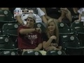 Guy lets girlfriend get hit by ball