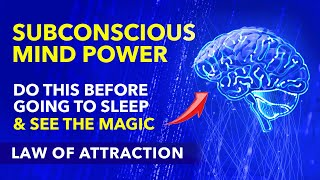 Do This Before Sleep For 7 Days & See The Magic - Best Time To Program Your Subconscious Mind 😇