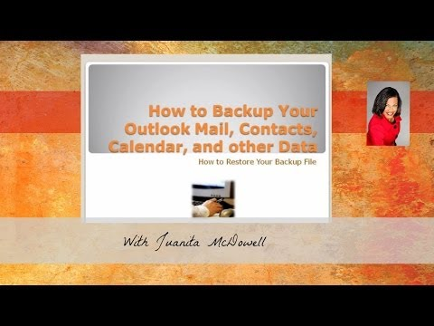 How to Back Up or Copy Your Outlook Mail and Other Data Files