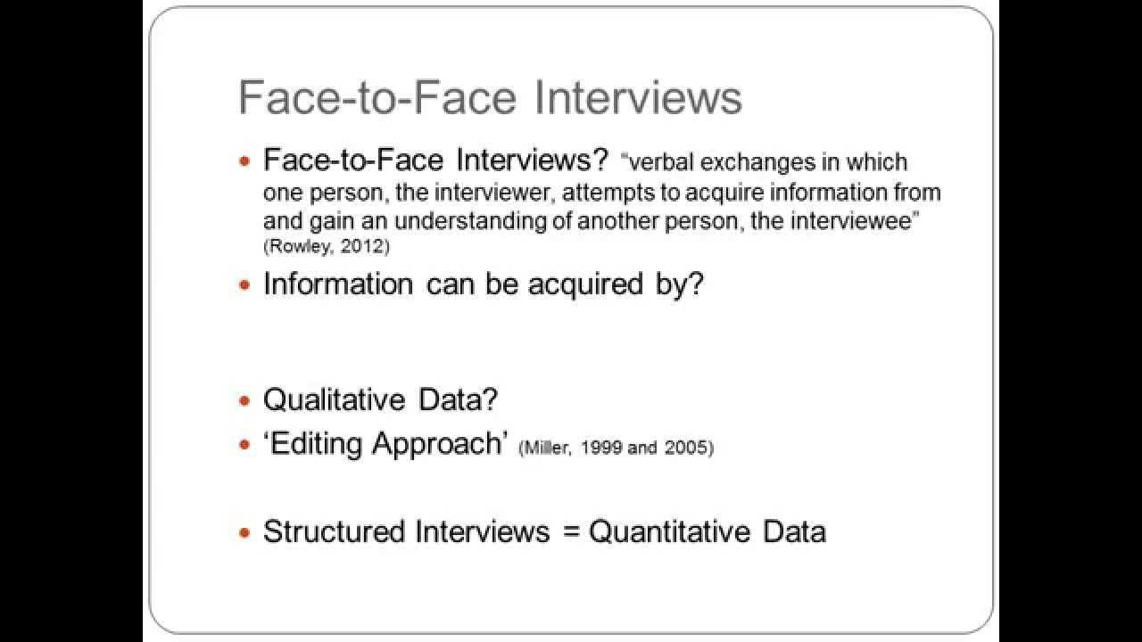 Interview as a method for qualitative research - YouTube