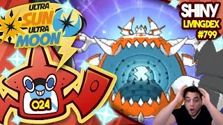 CRAZY LUCK SHINY GUZZLORD!! Quest For Shiny Living Dex #799 | Ultra Sun and Moon Shiny #024