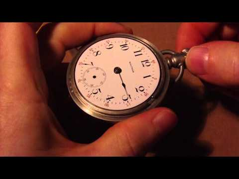 How I install watch hands. Waltham model 1883 pocket watch