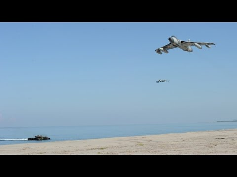 Chinese test flight in South China Sea artificial islands despite Vietnam protests 中國南海島礁試飛軍用戰機