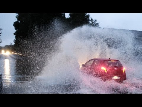 Very extreme rain storm and flooding in Copenhagen Video