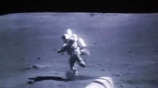 Astronauts falling on the Moon, NASA Apollo Mission Landed on the Lunar Surface