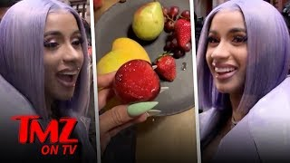 Cardi B Wants An Apology Fruit Basket From TMZ! | TMZ TV