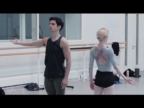 Christopher Wheeldon rehearses Fool's Paradise with Principal Artists of The Royal Ballet