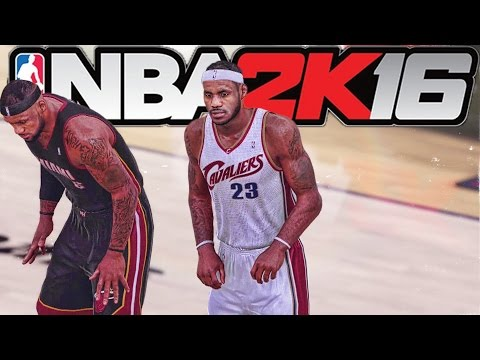 NBA 2K16 - '12-'13 Miami Heat vs '06-'07 Cleveland Cavaliers Gameplay Footage