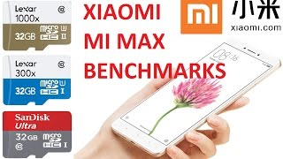Xiaomi Mi Max MicroSD UHS-I U1 vs UHS-II U3 Benchmark Speed Tests