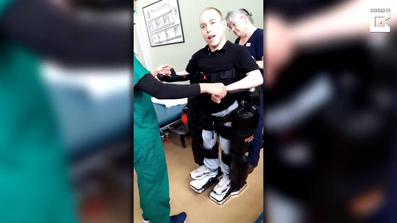 [Thanks To An High Tech Exo-Skeleton, This Cerebral Palsy Sufferer Can Walk] Video