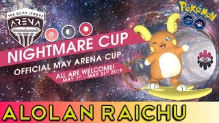 Alolan Raichu is AMAZING | Nightmare Cup | Pokemon Go PvP