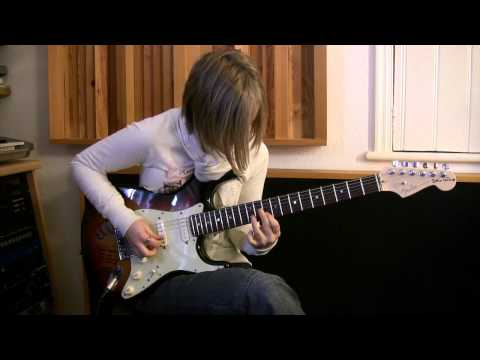 16 Year Old Girl Guitarist Jess Lewis Plays Incredible Version Of 'feeling Fine' By Alex Hutchings video