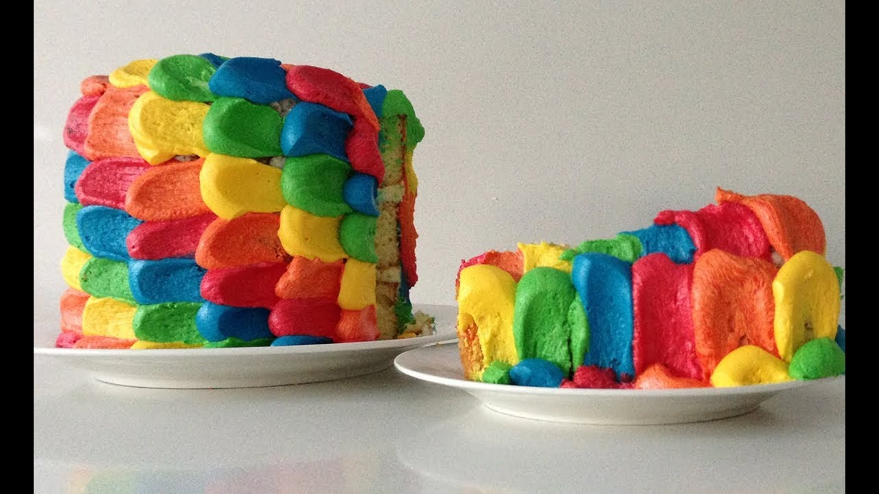 Easy Rainbow Cake Decoration : Rainbow Cake Decoration HOW TO Cook That Ann Reardon - YouTube