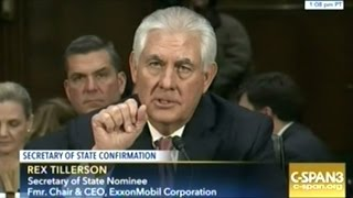 "Rex ""Drill-Baby-Drill"" Tillerson Secretary Of State Confirmation Hearing Part #2"