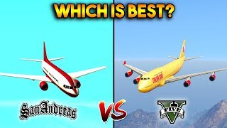 GTA 5 JET VS GTA SAN ANDREAS AT 400 : WHICH IS BEST