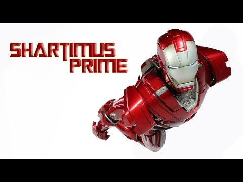 Hot Toys Iron Man Silver Centurion Mark 33 Iron Man 3 MMS 213 Movie Masterpiece Action Figure Review