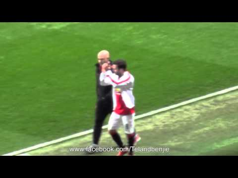 Fan Footage of the Applause for Juan Mata as he leaves the pitch during the Spurs Game 15.03.15