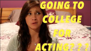 GOING TO COLLEGE FOR ACTING? | JENNA LARSON