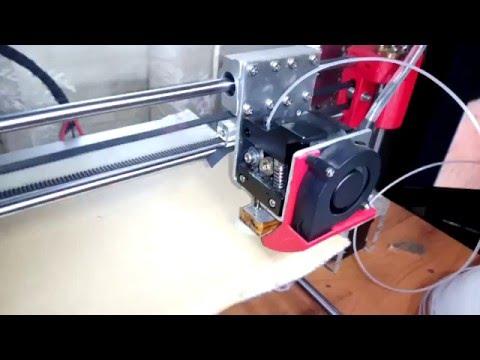 3d принтер, печать обычной рыболовной леской 1.5 мм