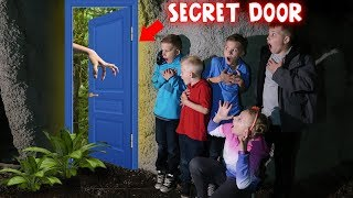 We Enter the Secret Door at Our House!