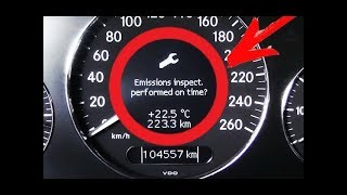 Solution error Emissions inspect. Performed on time? on Mercedes W211, W219 CLS / Main inspection