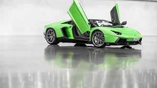 Lamborghini Aventador Roadster huge limit revs in a hall! HD