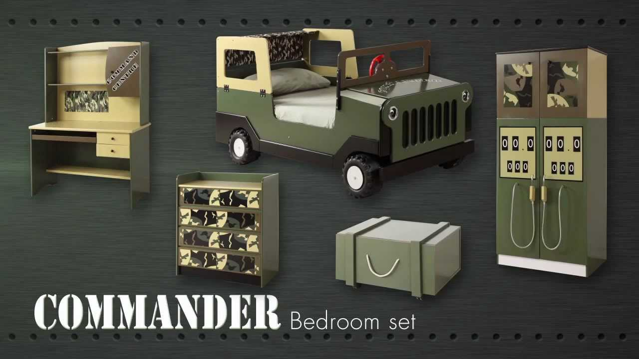 Army commando theme bed bedroom furniture for kids for Boys army bedroom ideas