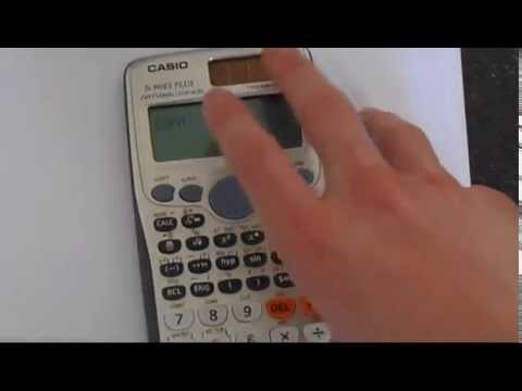 How to Reset a Casio FX 991ES PLUS