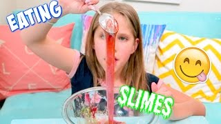 3 DIY SLIMES YOU CAN EAT Edible Slime without Borax or Glue!