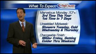 Monday morning weather forecast for April 21, 2014