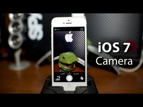 iOS 7 - Camera App On iPhone 5 With New Features