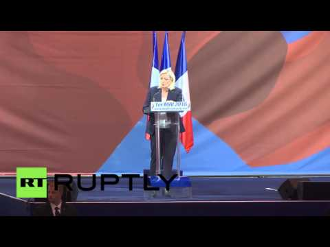 France: 'The Schengen Europe is the Europe of thieves' - Marine Le Pen at Paris rally