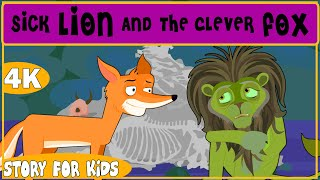 Sick Lion And The Clever Fox - SUGAR TALES || STORIES FOR KIDS