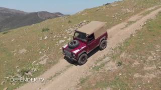 Land Rover Defender - Corsica - Drone DJI Active Track Test Hill Descent