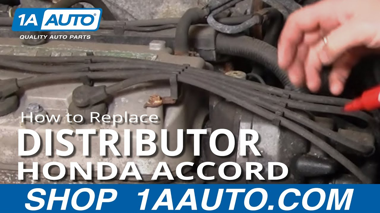 How To Install Replace Engine Distributor Honda Accord 2 3l 98 02 1aauto Com Youtube