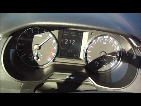 New Skoda Octavia 3 2013 2,0 TDI - acceleration 0-218 km/h