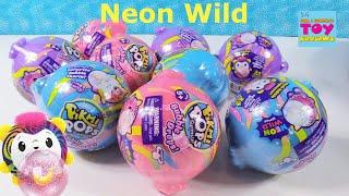 Pikmi Pops Surprise Neon Wild Bubble Drops Blind Bag Toy Review | PSToyReviews