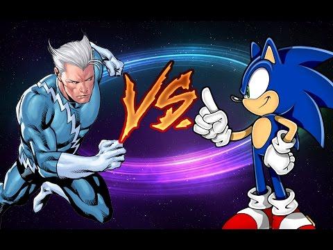 【RANDOM BATTLE】 Quicksilver vs. Sonic the Hedgehog