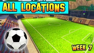 """Score a Goal on Different Pitches"" *ALL LOCATIONS* Fortnite Week 7 Challenge!"