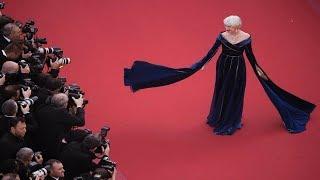 Helen Mirren In Elie Saab At Cannes 2018 Red Carpet
