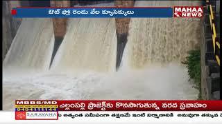 Tammileru River Gates Lifted Due To Huge Flood Water  - netivaarthalu.com
