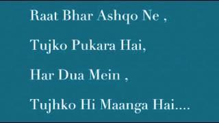 Sanam Teri Kasam Title Song  2016 Lyrics Ankit Tiwari