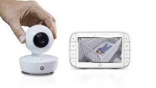 """Motorola MBP36XL Video Baby Monitor Pan/Tilt/Zoom 5"""" Color Screen with Portable Rechargeable Camera"""