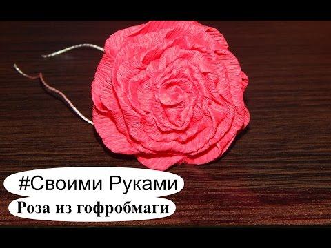 Роза из бумаги для букета. Как сделать розу из гофробумаги. Букет цветов из бумаги. - Смотри все про ремонт