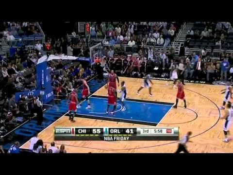 Dwight Howard dunks on Omer Asik 3-4-11