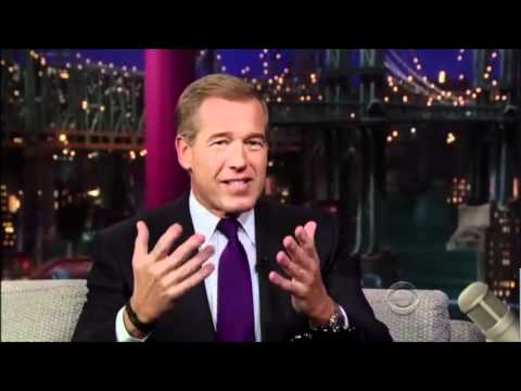Brian Williams - Late Show with David Letterman