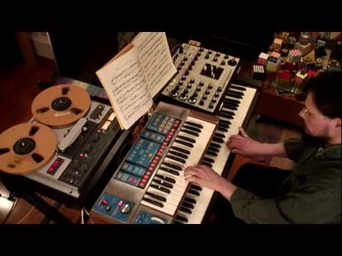 Bach Two-Part Invention No. 1 - EMS Synthi - Moog Source Music Videos