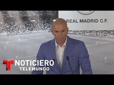 Zinedine Zidane, el nuevo técnico del Real Madrid | Noticiero | Noticias Telemundo