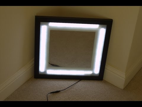 homemade makeup vanity lights how to save money and do it yourself. Black Bedroom Furniture Sets. Home Design Ideas